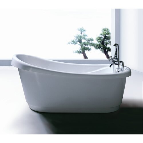 Extra deep whirlpool tub wayfair for Deep built in bathtubs