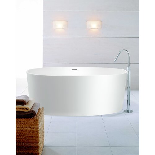 "Aquatica PureScape 61"" x 32"" Freestanding AquaStone Bathtub"