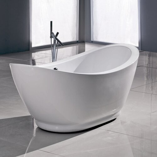 Freestanding acrylic slipper tubs home decorating ideas for Best acrylic tub