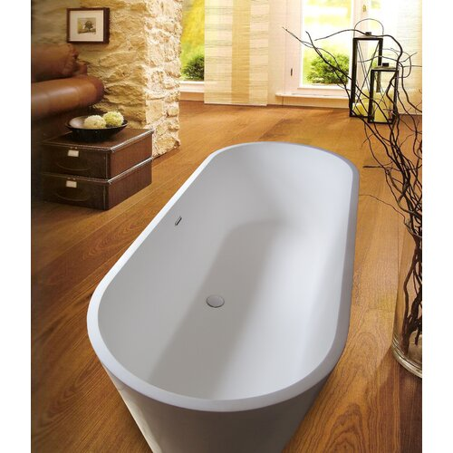 "Aquatica PureScape 67"" x 28"" Freestanding AquaStone Bathtub"