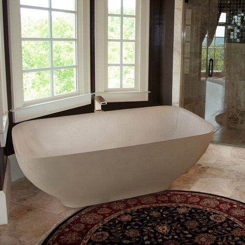 "Aquatica PureScape 67"" x 34"" Freestanding AquaStone Bathtub"