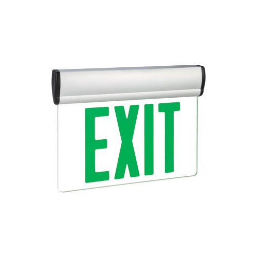 Barron Lighting Single Face Green LED Edge Lit Exit Sign