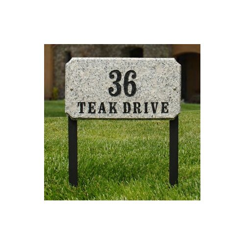 Qualarc Executive Rectangle Address Plaque