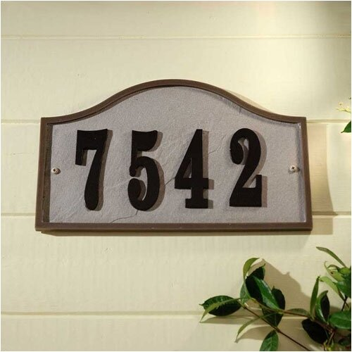 Ridge Serpentine Address Plaque