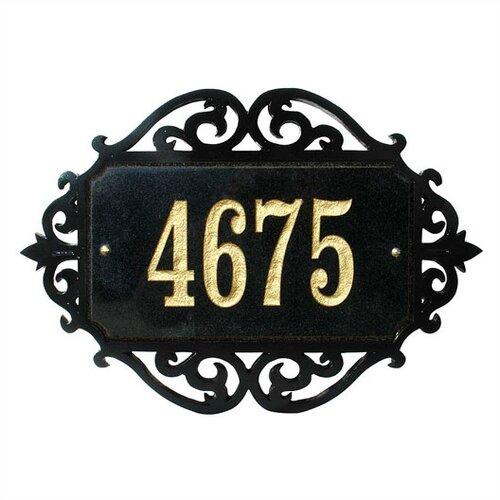 Qualarc Decorative Rectangle Address Plaque