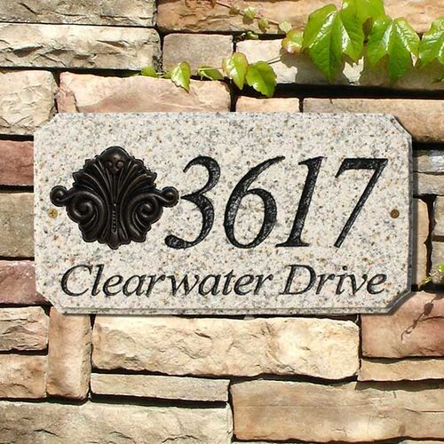 Qualarc Scroll Emblem Address Plaque