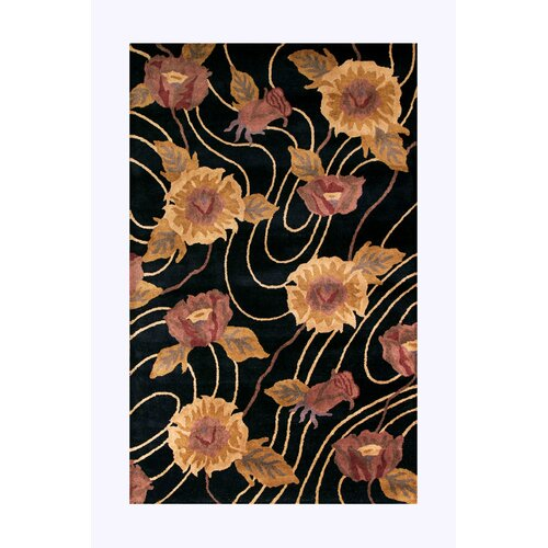 Noble House Dynamic Black Rug