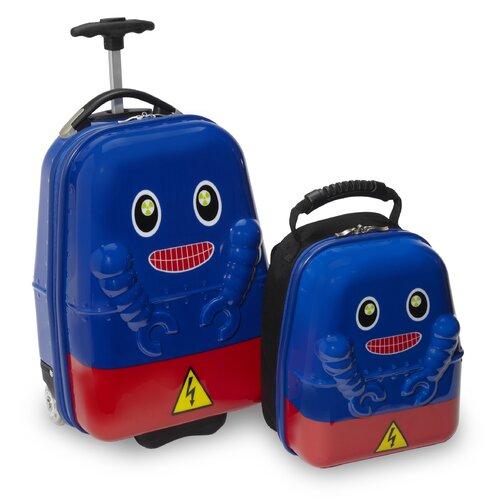 2 Piece Rusty Robot Children's Luggage Set