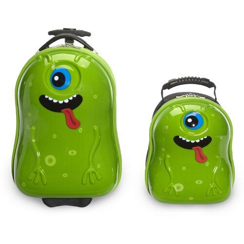 2 Piece Archie Alien Children's Luggage Set