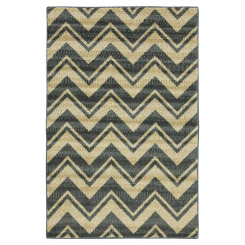 Canvas Blue Lascale Chevron Stripe Rug
