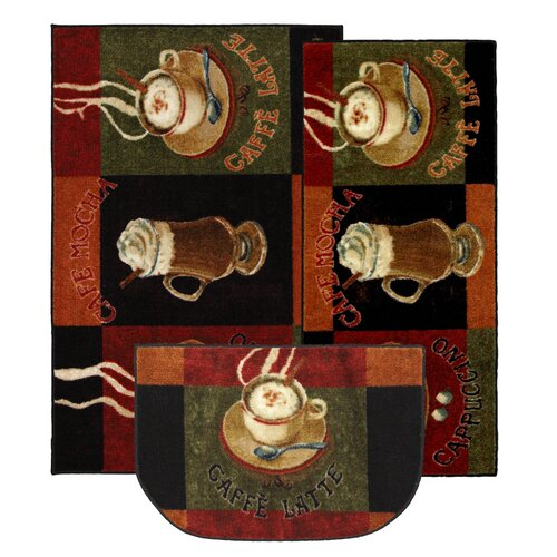 Mohawk Home New Wave Kitchen Caffe Latte Novelty Rug (Set of 3)