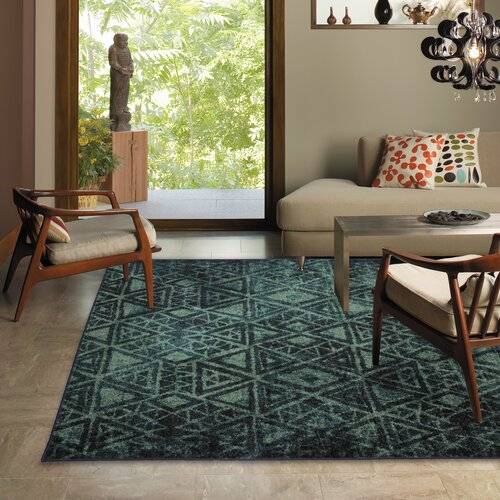 Mohawk Home Strata Teal Indie Pattern Area Rug & Reviews