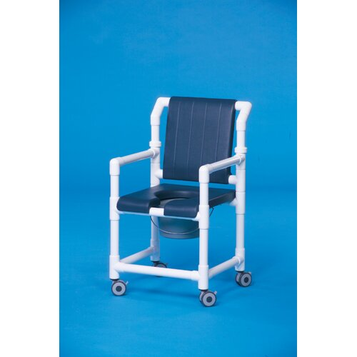 Innovative Products Unlimited Deluxe Shower Commode with Open-Front Seat