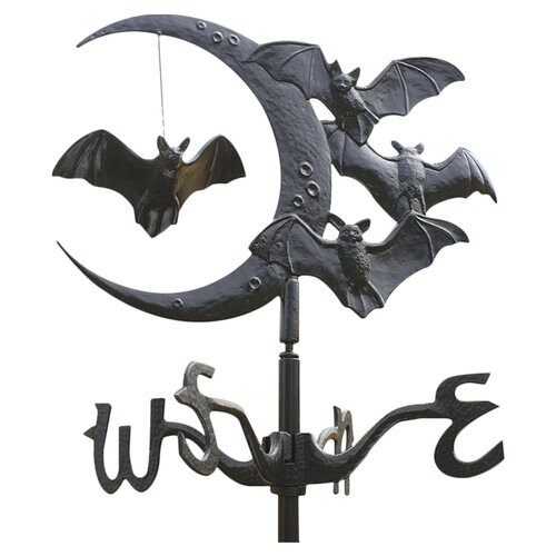 Design Toscano Moon and Bats Crescent Vampire Weathervane