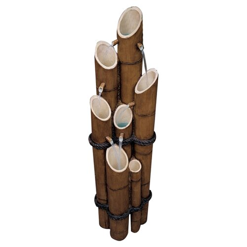 Design Toscano Resin Bamboo Sculptural Fountain