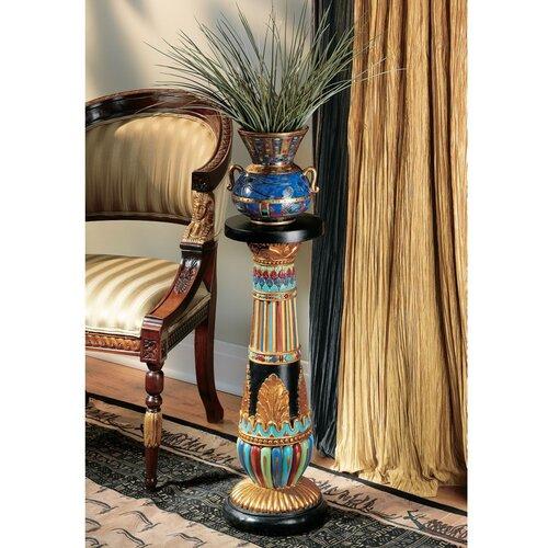 Regal Egyptian Luxor Pedestal Plant Stand