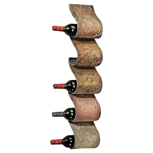 Design Toscano Cafe De Paris 5 Bottle Wall Mounted Wine Rack