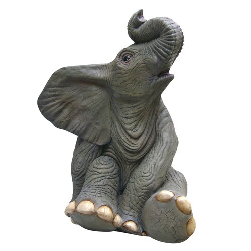Sitting Baby Elephant Statue