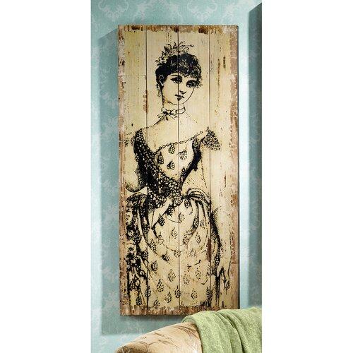 La Mode Illustree Lady with Sash Victorian Fashion Graphic Art Plaque