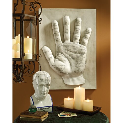 Palmistry, Language of the Hand Wall Sculpture