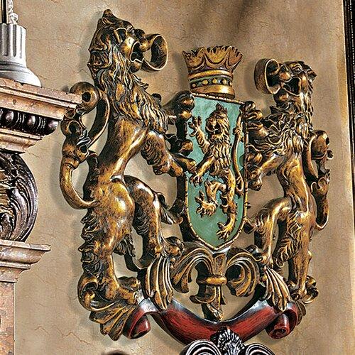 Design Toscano Heraldic Royal Lions Coat of Arms Wall Décor