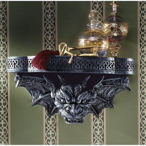 Design Toscano The Gargoyle's Perch Sculptural Wall Shelf
