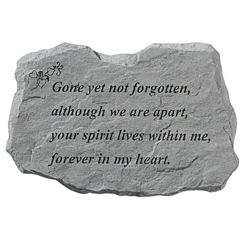 Design Toscano Gone Yet Not Forgotten: Memorial Garden Marker Stepping Stone