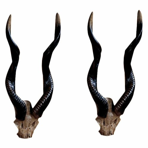 Design Toscano 2 Piece Kudu African Wall Décor Set