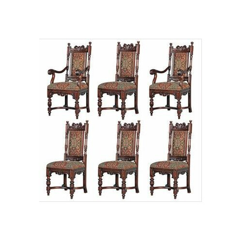 6 Piece Grand Classic Edwardian Chair Set