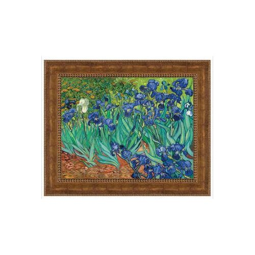 Irises, 1889 by Vincent Van Gogh Framed Painting