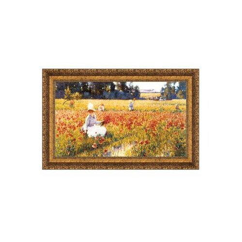 'In Flanders Field Where Soldiers Sleep and Poppies Grow, 1890' by Robert William Vonnoh Framed ...