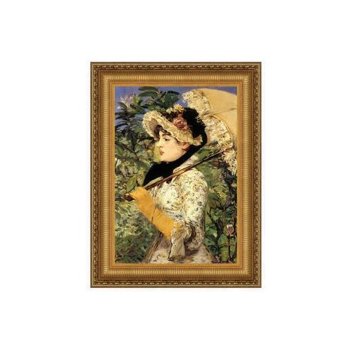 Jeanne: Spring, 1881 by é douard Manet Framed Painting