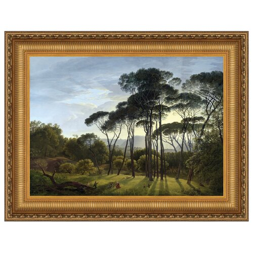 Italian Landscape with Umbrella Pines, 1807 Framed Original Painting