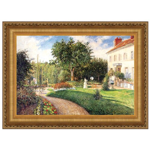 Garden of Les Mathurins at Pontoise, 1876 Framed Original Painting