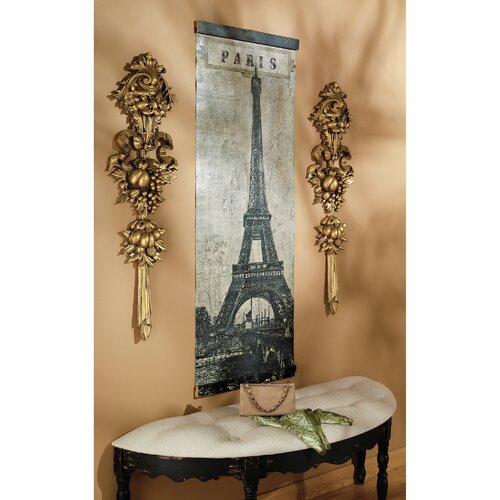 Old World Paris' Eiffel Tower Photographic Print on Canvas