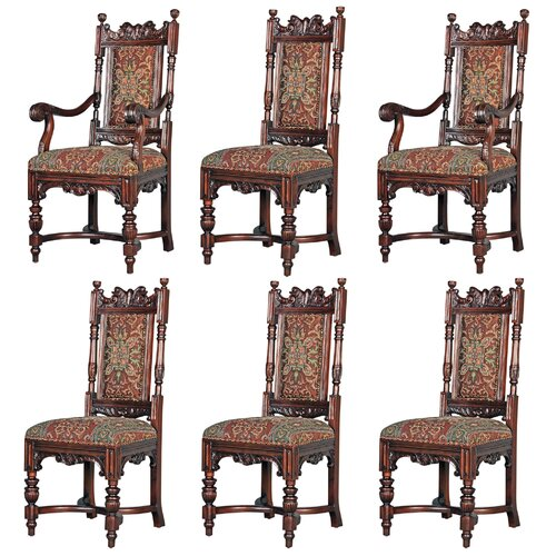 Grand Classic Edwardian 6 Piece Dining Chair Set