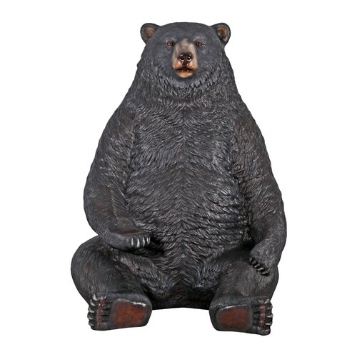 Sitting Pretty Oversized Bear Statue with Paw Seat
