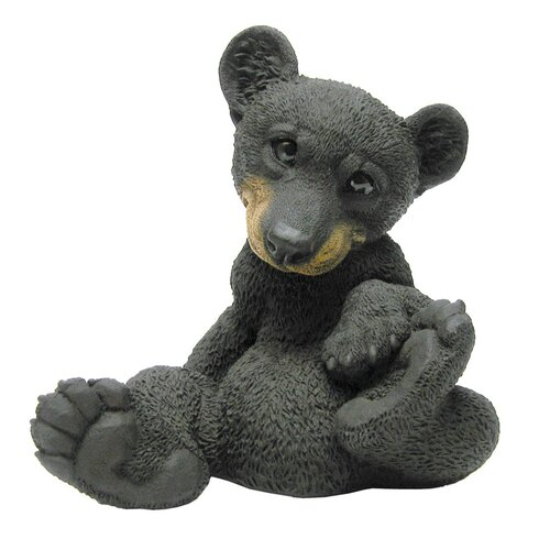 Little Bear Cub Paws Up Statue