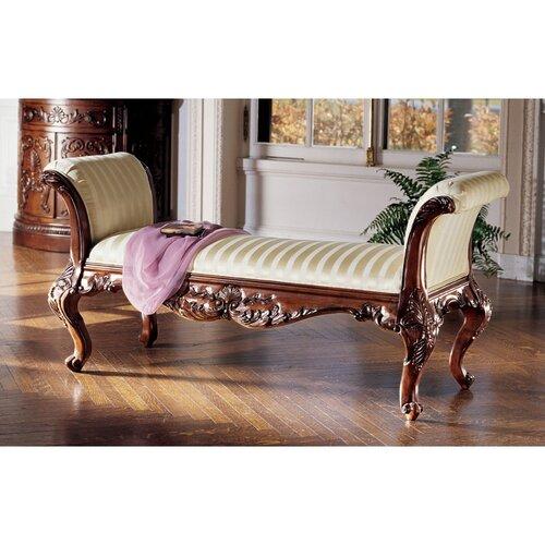 Elegant Foyer Benches : Design toscano maison mehieu hardwood bench reviews