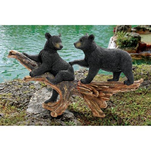 Mischievous Bear Cubs Statue