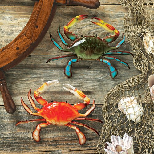 Design Toscano 2 PIece Tropical Crabs Wall Décor Set