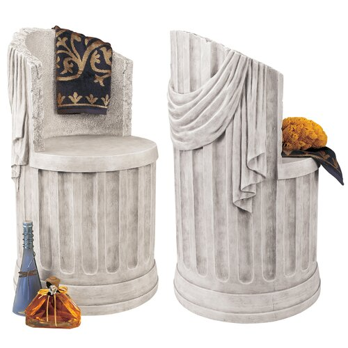 Design Toscano Baths of Caracalla Spa Stool