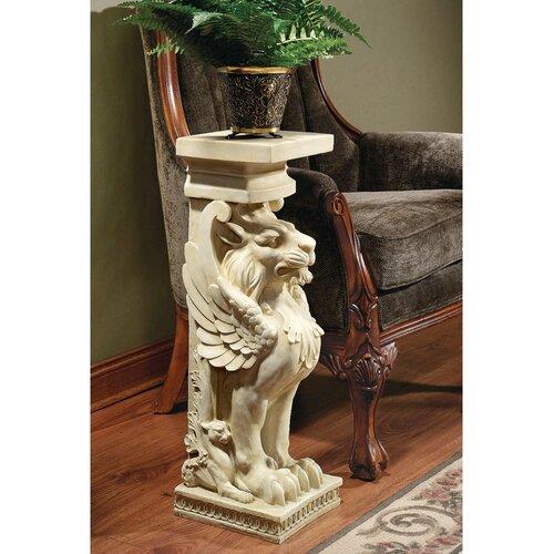 Trapezophoron Winged Lion Pedestal Plant Stand