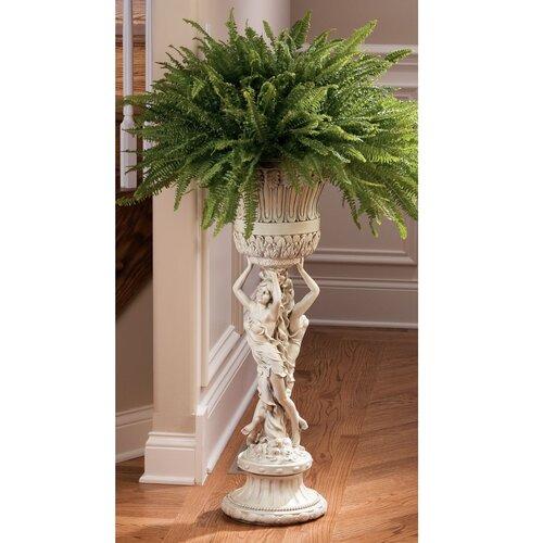 Design toscano les filles joyeuses neoclassical pedestal plant stand reviews wayfair - Plant pedestal indoor ...