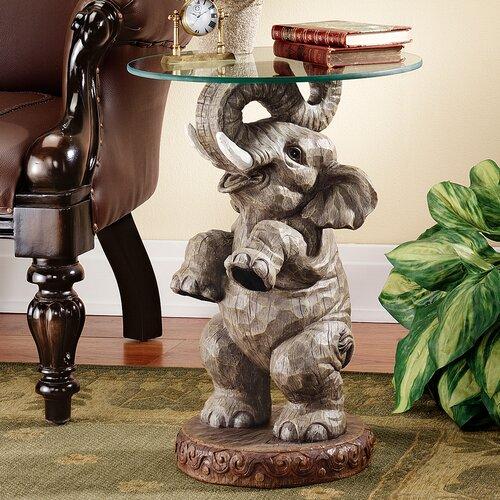 Design Toscano Good Fortune Elephant End Table Reviews Wayfair