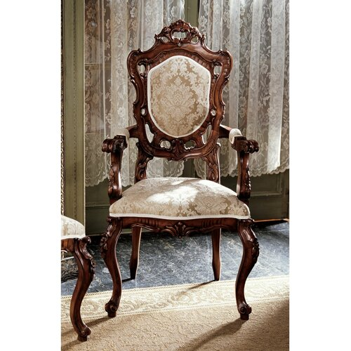 Toulon French Rococo Fabric Arm Chair