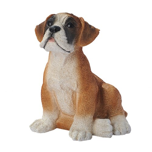 Design Toscano Boxer Puppy Dog Figurine
