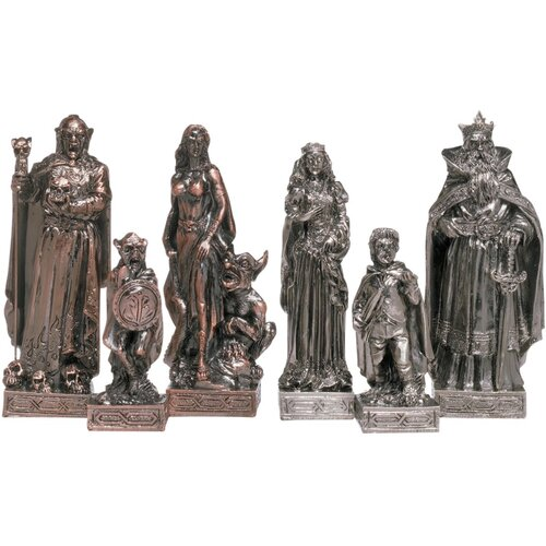 6 Piece Mystical Legends Chess Figurine