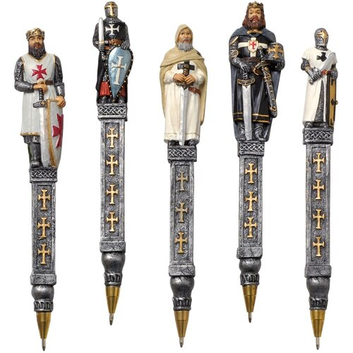 Design Toscano 5-Piece Medieval Templar Knights Pen Set