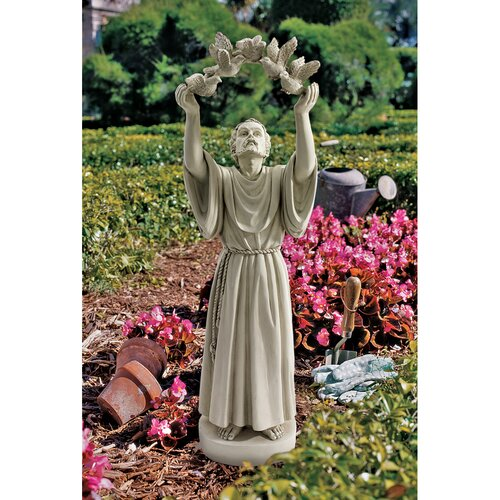 Design Toscano St. Francis's Doves of Peace Garden Statue